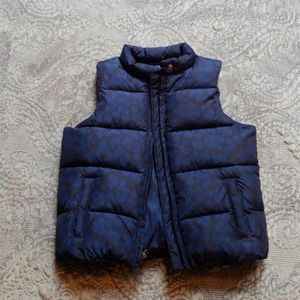 GAP dark with lighter blue cheetah print vest
